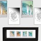 Anzac 2015 - New Zealand and Australia Joint Issue Silver Coin Set with Stamps