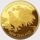 2017 Year of the Rooster Gold Plated Medallion