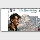 2019 Sir Edmund Hillary 1919-2008 Set of Mint Stamps