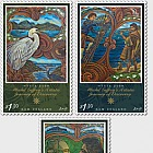 2019 Tuia 250: Michel Tuffery's Artistic Journey of Discovery Set of Mint Stamps