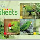 2020 Kakariki - New Zealand Parakeets Mint Miniature Sheet