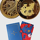 2021 Year of the Ox Gold Plated Medallion