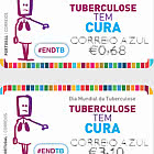 Franking Labels - World Tuberculosis Day - Sick - Blue Mail