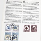 Joint stamp issue Romania-Portugal: Ceramics - Tiles (Cahle and Azulejos)