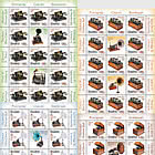 Romanian Collections Phonographs - (Sheet of x13 Stamps + 2 Different Labels + 10 Tabs)