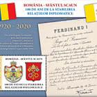 Rumania - Santa Sede, 100 Años desde el Establecimiento de Relaciones Diplomáticas