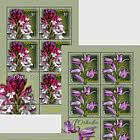 Orchids - Sheet of 5 stamps + 1 labels