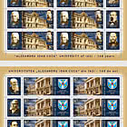 """Alexandru Ioan Cuza"" University Of Iasi, 160 Years - Sheet  x 6 stamps + 3 label"
