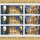 """Alexandru Ioan Cuza"" University Of Iasi, 160 Years - M/S block of 6 stamps (3 sets)"