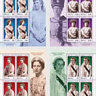 The Uniforms of Royalty (III) - The Queens of Romania - Sheet x 5 Stamps + 1 Label