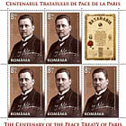 The Peace Treaties Of Paris 1919-1920 - Sheets of 5 Stamps + 1 Label