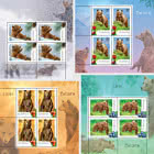 Bears - Sheets of 4 stamps + Illustrated Border