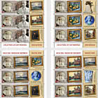 Collections Of Lost Museums - Sheets  x 4 Stamps + 4 Labels