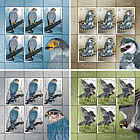 Falcons - Sheet x 5 Stamps + 1 Label
