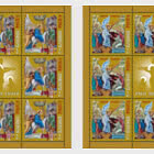 The Holy Easter 2021 - Sheets x 8 Stamps + 1 Label