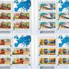 European Year of Railways - Sheet x 5 Stamps + 1 Label
