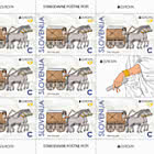 Europa 2020– Roman Carriage C - Sheet of 8 Stamps + 1 Label