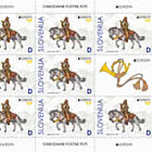 Europa 2020 – Postillion D  - Sheet of 8 Stamps + 1 Label