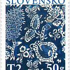 Pasqua 2020 - La stampa tradizionale blu slovacca