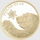 Polar Bear 0.5g Gold Snowflake Bear