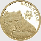 Brown Bear 0.5g Gold Snowflake Bear
