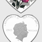 Roses For Love Heart-Shaped Silver Tokelau Coin