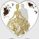 Braut und Bräutigam 2018 Heart Shaped Silber Tokelau Coins