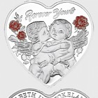 Forever Yours 2019 Heart-Shaped Silver Tokelau Coin