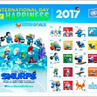 International Day of Happiness- Smurfs- (NY)- (Sheetlet CTO)