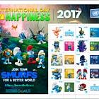 International Day of Happiness- Smurfs- (VI)- (Sheetlet CTO)