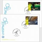 (Vienna) - UNISPACE+50 - (FDC Single Stamp)