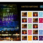 DIWALI — New York Personalized stamp Sheet - (Sheetlet Mint)