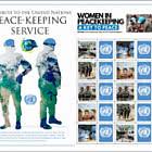 Hommage an den Friedenssicherungsdienst der Vereinten Nationen