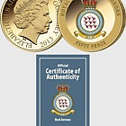 GUERNSEY - The Red Arrows Gold-Plated Coin
