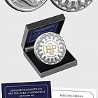 JERSEY - The Platinum Wedding Five Pound Proof Coin