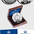 ISLE OF MAN - HRH Prinz Louis von Cambridge Silver Proof Fünf-Pfund-Münze