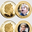 GUERNSEY - HRH Prince George's 5th Birthday Gold-plated Five Coin Set