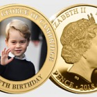 GUERNSEY - HRH Prince George 5th Birthday Goldplated Coin