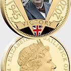 Die vergoldete Münze zum 75-jährigen Jubiläum von VE Day