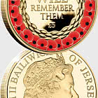 JERSEY - Remembrance Poppy CuNi Proof £5 Coin