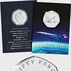 GUERNSEY - The 50th Anniversary of Concorde 50p Coin