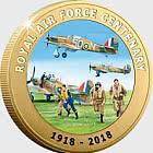 JERSEY - Offizielle vergoldete Münze zum 100. Geburtstag der RAF