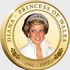 Moneda de Prueba del 20 ° Aniversario de la Princesa Diana