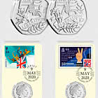 Channel Islands Liberation Datestamp 50p Pair