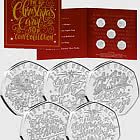 GUERNSEY - The Christmas Carol 50p 硬币收集包