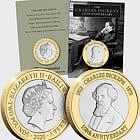 JERSEY - Charles Dickens 150th Anniversary BU £2
