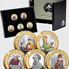 JERSEY - Charles Dickens 150th Anniversary BU £2 - Coloured Set