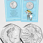 ISLE OF MAN - Alice's Adventures in Wonderland BU 50p Coin
