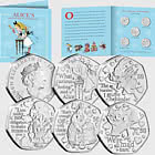 ISLE OF MAN - Alice's Adventures in Wonderland BU 50p Set