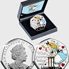 ISLE OF MAN - Alice's Adventures in Wonderland Silver 50p
